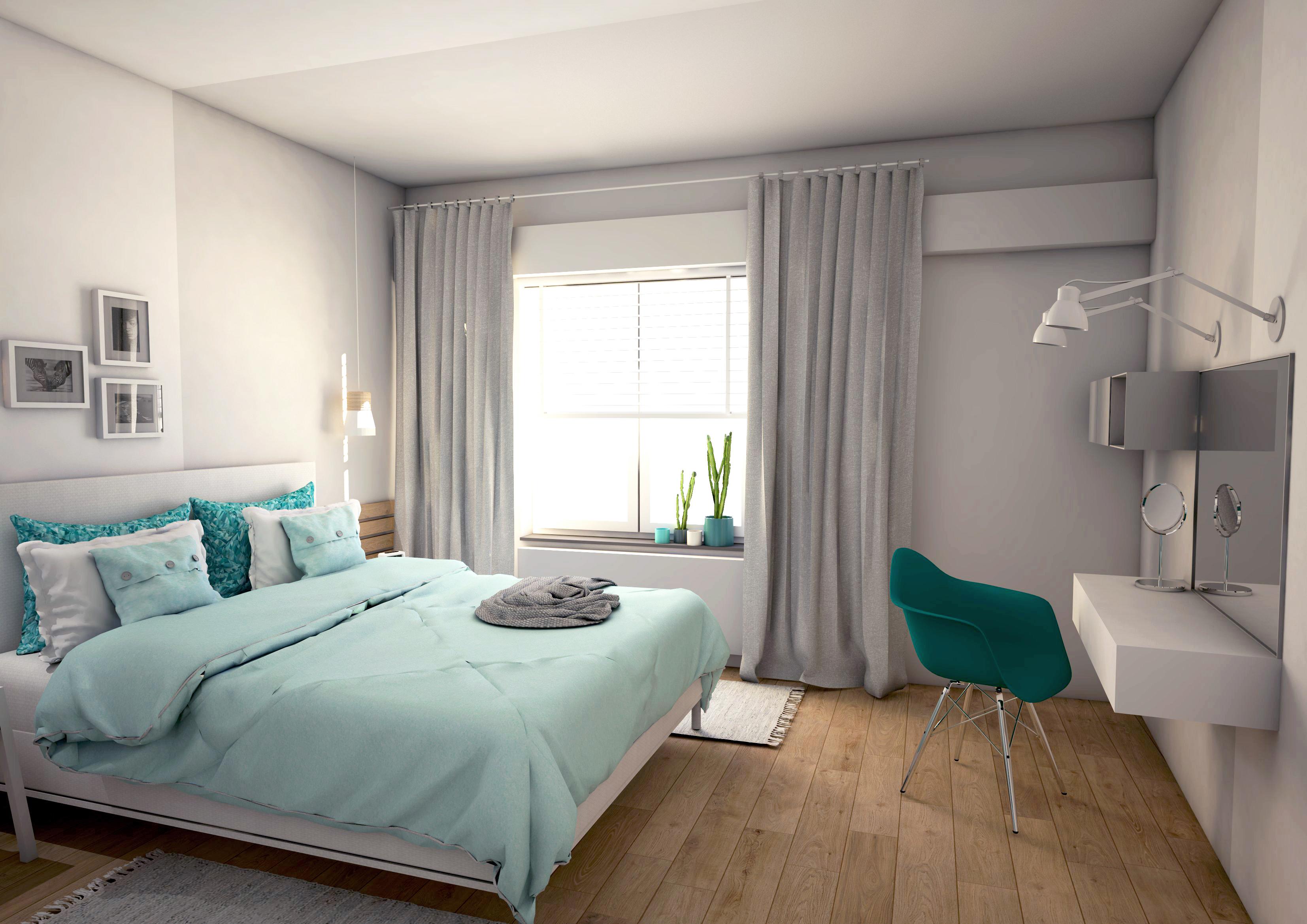 slaapkamer turquoise - Studio em