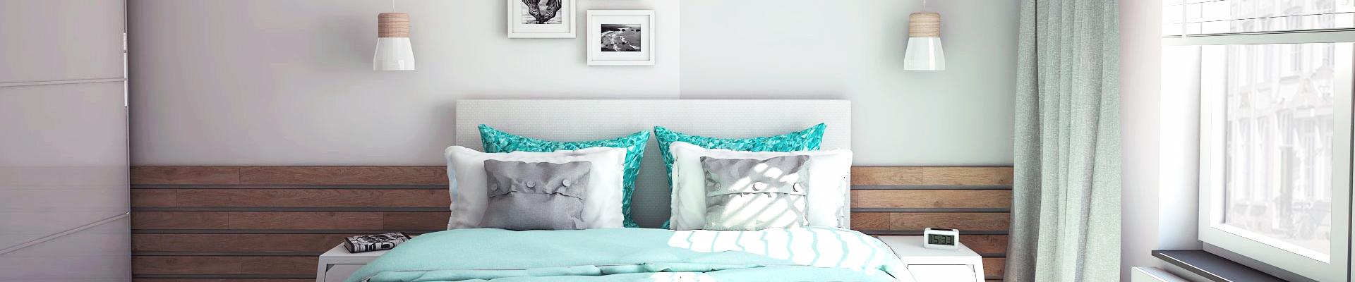 Turquoise slaapkamer - Studio em